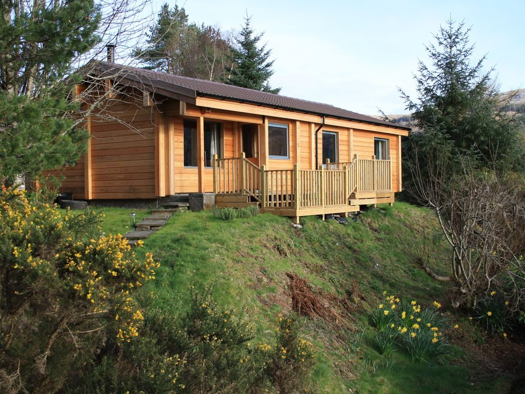 Hermosa casa de troncos